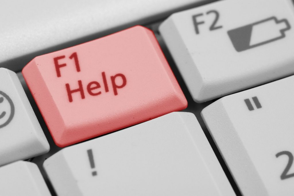technical support help button